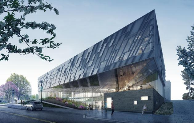 Mock up of new Dublin Library