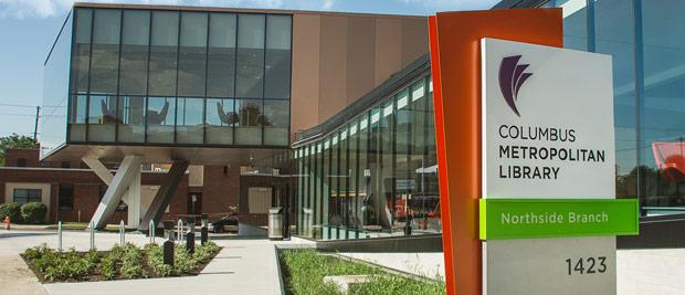 The Columbus Metropolitan Library Northside Branch exterior.