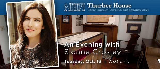 Thurber House Evening with Author Sloane Crosley